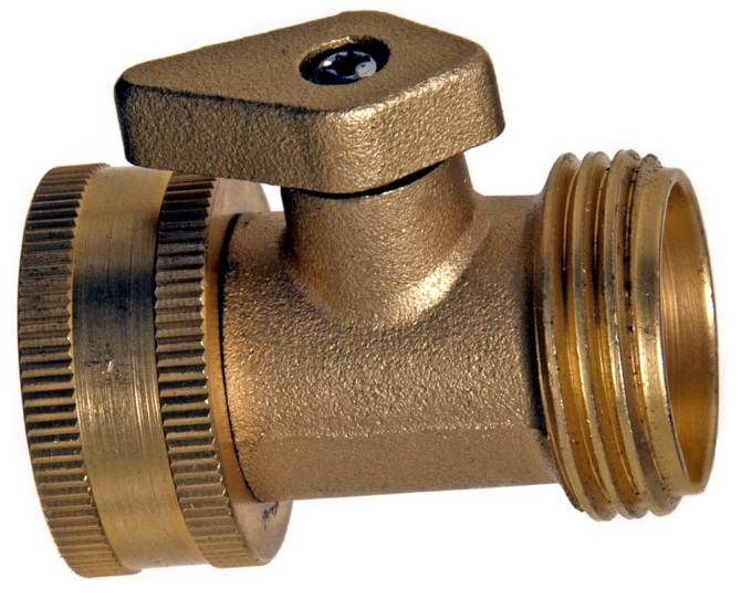 Brass Garden Hose Shut Off valve Cool Tools