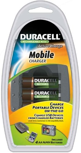 Duracell CEF23 NiMH battery charger and USB Device charger
