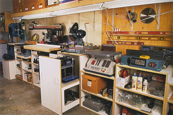 garage benchtop ideas - Building Workshops