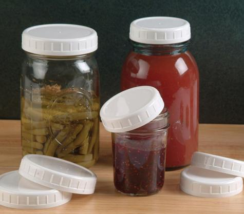 & Plastic Storage Caps for Wide Mouth Canning Jars | Cool Tools