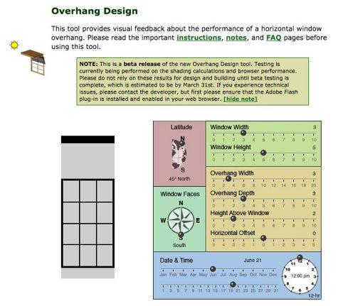 Horizontal Window Overhang Calculator Cool Tools
